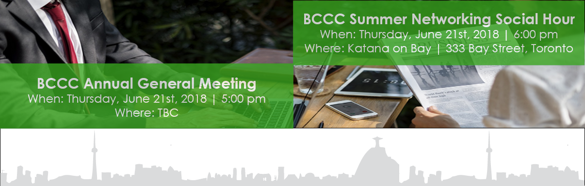 BCCC Annual General Meeting 2018 & Summer Networking Social Hour