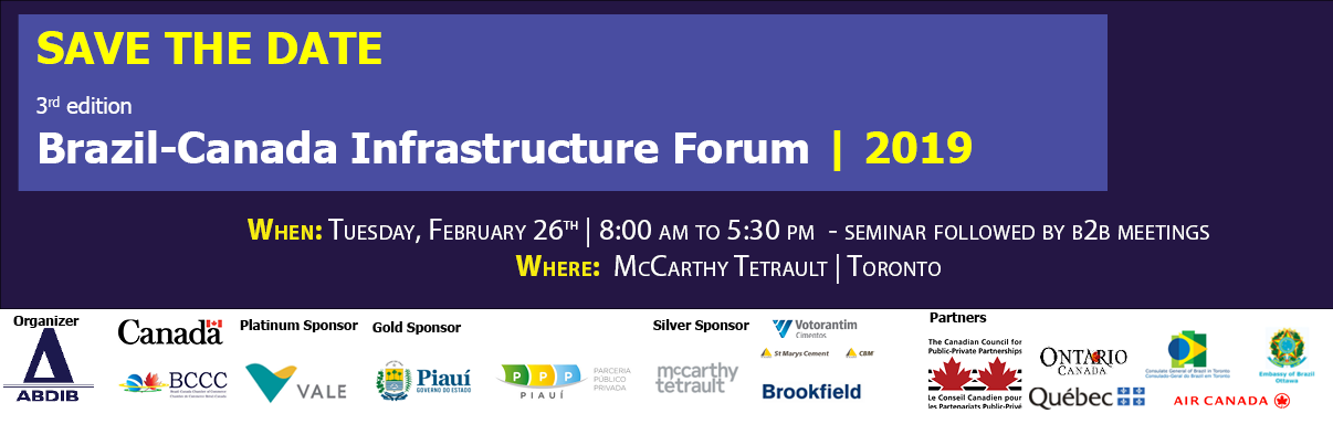 3rd Brazil-Canada Infrastructure Forum | The Brazilian Infrastructure Market