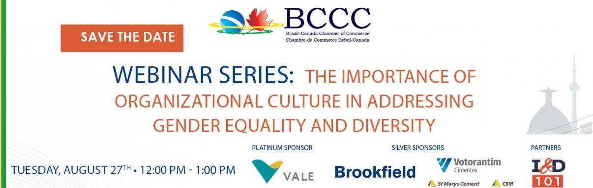 BCCC Webinar Series: The importance of Organizational Culture in Addressing Gender Equality and Diversity