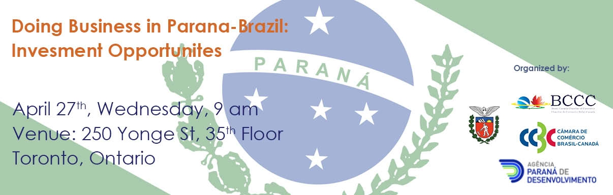 BCCC/CCBC Trade Mission – Doing Business in Parana:  Investment Opportunities