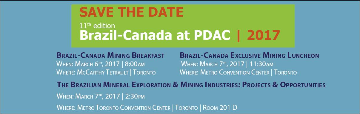 Brazil-Canada at PDAC 2017