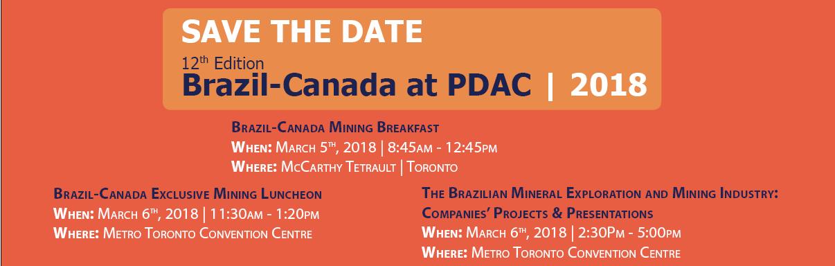 Brazil-Canada at PDAC 2018