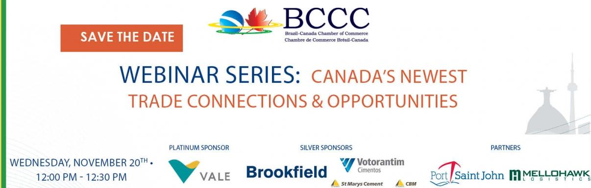 BCCC Webinar Series: Canada's Newest Trade Connections & Opportunities